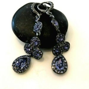 Givenchy Crystal Earrings - Purple